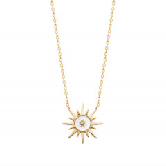 Collier Rose des vents Plaqué Or Nacre Oz