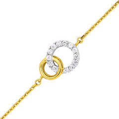 Bracelet Double cercle OZ Plaqué Or