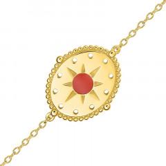 Bracelet INCAS Soleil Email Corail