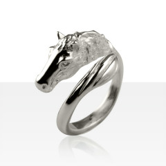 Bague Argent TETE/QUEUE DE CHEVAL GM