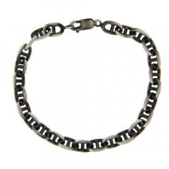 Bracelet maille marine Argent patiné