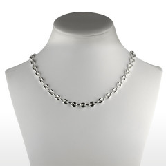 Collier Argent GRAIN DE CAFE 7mm - 50CM