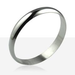 Bracelet  1/2 JONC ARGENT MASSIF 11MM / 3MM