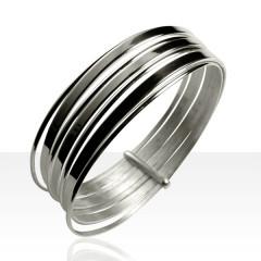 Bracelet SEMAINE PLATE Argent massif  063