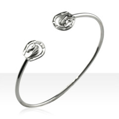 Bracelet Argent JONC TETE/FER