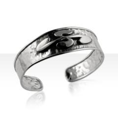 Bracelet Argent MARTELE CHUTE 18MM CX BASQ