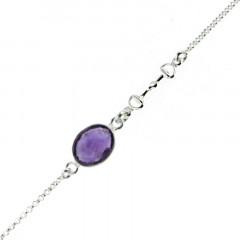 Bracelet Argent Petra - Mini mors (Pierre au choix)