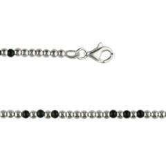Bracelet Argent ENFILAGE BRILL/PERLES NOIRES