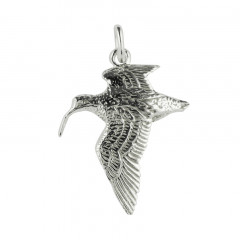 Pendentif Argent BECASSE AILES BASSES