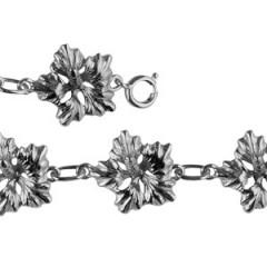 Bracelet Argent 7 HIBISCUS GM
