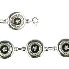 Bracelet Argent CREOLE ONYX/EM-PM