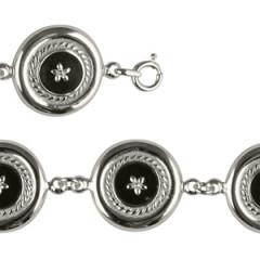 Bracelet Argent CREOLE ONYX/GM