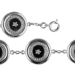 Bracelet Argent CREOLE ONYX 5/CH GM
