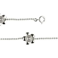 Bracelet Argent Ble 150 3 Motifs DAHLIA 1 Rang
