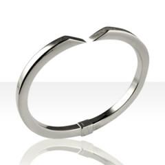 Bracelet Argent JONC FC5 PANS COUPES