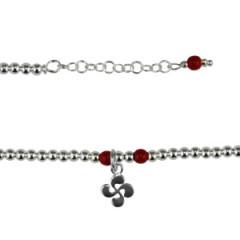 Bracelet Argent mini BOULES CROIX BASQUE