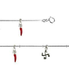 Bracelet Argent QDR Ble 3 PIMENTS LAQUE PM/2 CB
