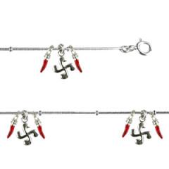 Bracelet Argent QDR Ble 4x2 PIMENTS LAQUE PM/4 CB