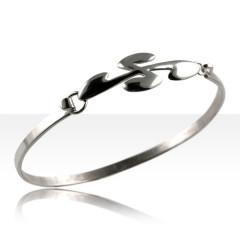 Bracelet Argent JONC ATTACHE CB OVALE PM