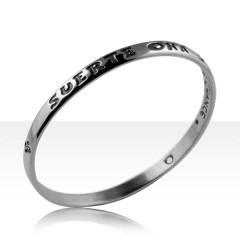 Bracelet Argent JONC MODERNE MM/JE PORTE CHANCE