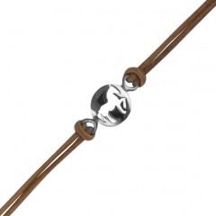 """Bracelet Argent """"JEREZ"""" Mini 1 Motif Coton D10"""