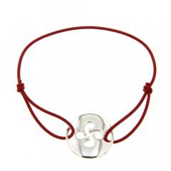 Bracelet Argent LASTIC Disque Croix basque découpée