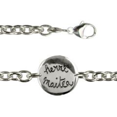 """Bracelet Argent """"GRAFFITI"""" HERRI MAITEA"""