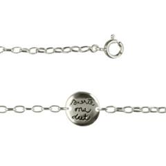 """Bracelet Argent """"GRAFFITI"""" 1 Médaille SUERTE PM"""