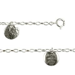 """Bracelet Argent """"GRAFFITI"""" 3 MédailleS SUERTE PP"""