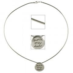 Collier Argent OMEGA 15/Médaille GRAFFITI SUERTE