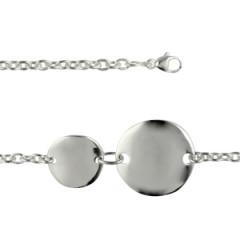 Bracelet Argent Médailles rondes DUO