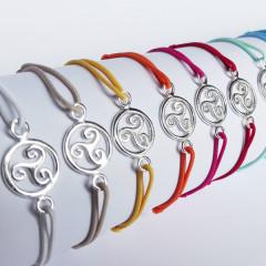 Bracelet Argent LASTIC Triskell