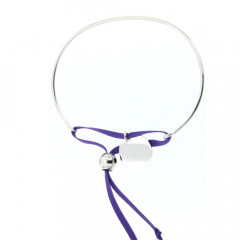 Bracelet personnalisable Argent Médaille cordon satin