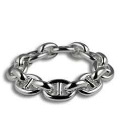 Bracelet Argent MAILLE MARINE HL emmaillement