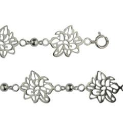 Bracelet Argent FLORIA 6 motifs
