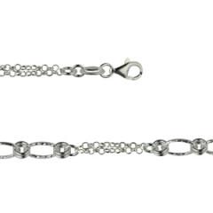 Bracelet Argent MINI double chaine