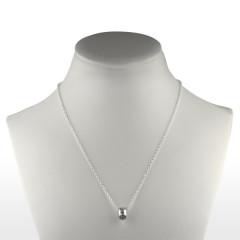 Collier Argent ANNEAU serti Oxyde de Zirconium