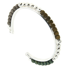 Bracelet Argent MASSAÏ JONC FIL