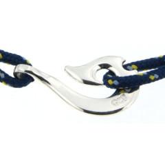 Bracelet Argent Hameçon Maori CAP COZ - bleu
