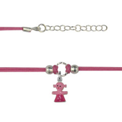 Bracelet Argent NILA petite fille rose