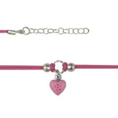 Bracelet Argent NILA coeur rose