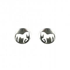 Boucle d oreille cheval Argent - fabriquée en France