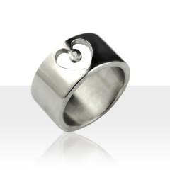 Bague ECLAT Argent Diamant Coeur