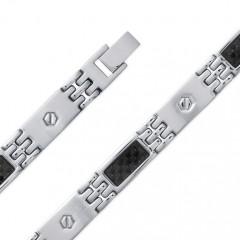Bracelet CARBONE ACIER