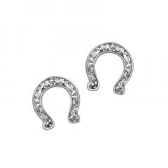 Boucles d 'oreilles Fer à cheval Or blanc 750°°°