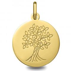 Médaille bapteme arbre de vie Or jaune