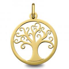 medaille arbre de vie Or jaune 18K - bapteme bébé