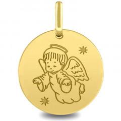 médaille ange moderne Or jaune 18k