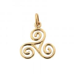 Triskell Or 9 carats - pendentif breton artisanal
