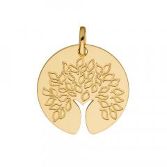 Médaille ARBRE DE VIE tronc découpé Or 750°°°